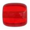 Polyester Beads 20mm Cylinder Transparent Ruby Strung